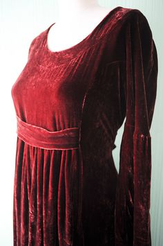 Vintage Red Velvet Dress Medium Large by vintagevirtu on Etsy, $45.00