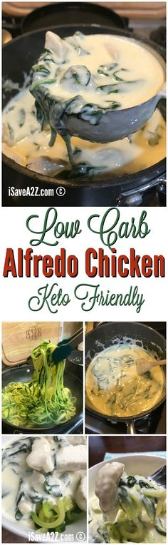 Low Carb and Keto Chicken Alfredo Pasta Recipe