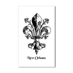 Black on White Antique New Or Sticker (Rectangular on CafePress.com