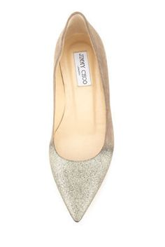 Jimmy Choo Alina Point-Toe Degrade Flat | 42 Pairs Of Wedding Flats To Keep You Comfy & Cute On Your Big Day