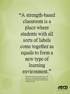 Thomas Armstrong, Neurodiversity in the Classroom: Strength-Based Strategies to Help Students with Special Needs Succeed in School and Life