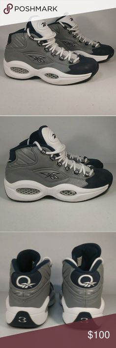 98203e52136 Reebok Allen Iverson Question Sneakers Size 7 Blue   Grey Georgetown  Colorway. College. Basketball