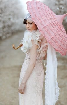 #vintage #umbrella #blush