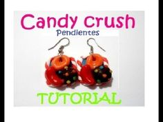 Candy Crush earrings /Pendientes polymer clay / Aretes porcelana fria paso a paso