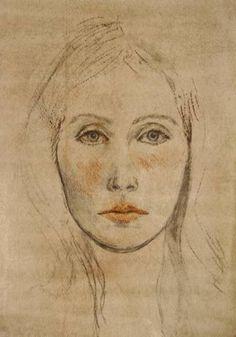 "Ute Rathmann; Drawing, ""Hommage à Holbein VI"" #art"