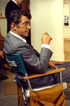 Dean Martin on the set of The Wrecking Crew, 1968.