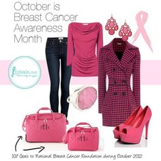 Hope you like this outfit designed for Initials, Inc. Keep Strong and Carry On! Breast Cancer Awareness campaign for October. During the month of October Initials, Inc. will donate 10% of the retail purchase price of every Berry Carry-On and/or Trolley Bag sold to the National Breast Cancer Foundation. Inbox me your order or shop online at www.myinitials-inc.com/jlmason     It's a good purchase doing good!