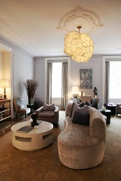 love the eggplant tones with golds, by Stephen Sills at The Apthorp building