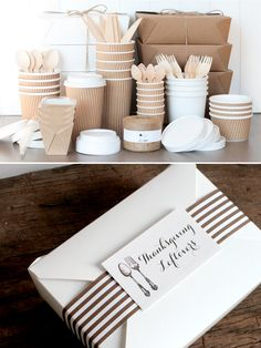 Thanksgiving Tip #9 - Be sure to have to go boxes for guests. See more tips ... http://www.weddingchicks.com/thanksgiving-tips-tricks/