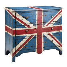 Madison Park Union Jack 3-Drawer Accent Chest