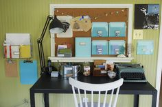 I've always loved this letter writing station as an example of how to nurture and support an interest with environment.