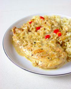 Kurczak w sosie śmietanowym z karmelizowaną cebulką   Słodkie Gotowanie Tortellini, Risotto, Food And Drink, Ethnic Recipes, Health, Health Care, Salud