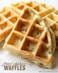 Fried Chicken Waffles - fried chicken IN the waffle!