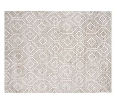 Darcy Rug - Gray | Pottery Barn- In case you decide neutral is okay for under the desk.
