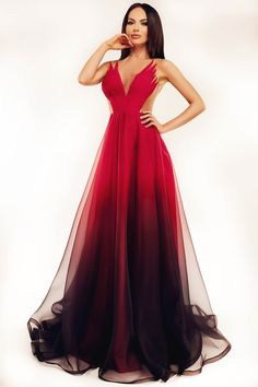 Ana Radu True Legend Red Dress, back zipper fastening, voile fabric, slightly transparent fabric, nonelastic fabric
