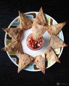 tortilla chips with strawberry salsa