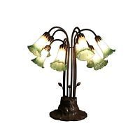 Ciara 10-light Amber and Green Glass 24-inch Tiffany-style Table Lamp (Glass 24-inch Tiffany-style Table Lamp)