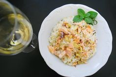 Salmon and Italian Lemon Risotto, for our Delivery Menu.  www.apequenacozinha.com.br
