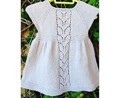 Ravelry: Leaf Love Dress pattern by Taiga Hilliard Designs dk 250-320m 0-3 months free