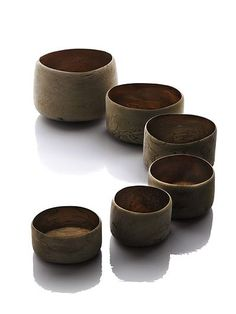 Wood vessels by Ernst Gamperl