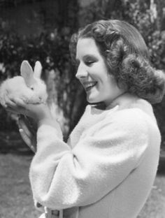 Actress Norma Shearer (1902-1983), date unknown. BUNNY!!!