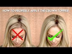 How To: Properly apply the Crown Topper - Hidden Crown Hidden Crown Hair Extensions, Hair Extensions Before And After, Hair Extensions For Short Hair, Halo Hair Extensions, Tape In Extensions, Hair Extension Care, Hair Toppers, Magic Hair, Crown Hairstyles