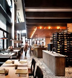 Nico Osteria at Thompson Chicago interior architecture and design by Tara Bernerd & Partners, photo by Philip Vile Cafe Restaurant, Restaurant Concept, Restaurant Interior Design, Cafe Interior, Bar Design Awards, Cafe Bistro, It Goes On, Hospitality Design, Commercial Interiors