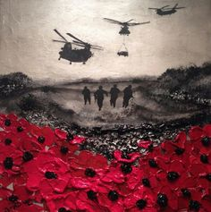 """Remembered, By Day and By Night"" By Jacqueline Hurley Port Out, Starboard Home POSH Original Art War Poppy Collection No.12"