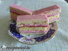Epres joghurtkocka Hungarian Recipes, Hungarian Food, My Recipes, Vanilla Cake, Fondant, Pancakes, Breakfast, Sweet, Cake