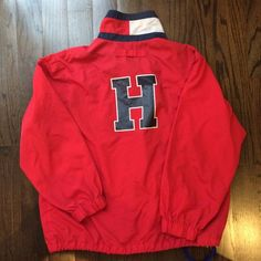 Vintage Tommy Hilfiger Red Windbreaker from damsel in distressed