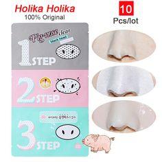 Holika Pig Nose Remover Acne cravo Remover limpar preto 3 passo Kit de beleza de limpeza acessório C035 alishoppbrasil