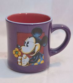Disney Minnie Mouse Mug Purple Great Condition