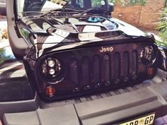 New LED headlights fitted  also showing new snorkel and bonnet