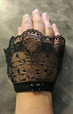 Lace wrist cuffs larp vintage victorian steampunk renaissance gothic burlesque NemsCreations also takes custom requests @ https://m.facebook.com/NemesiasCreations/