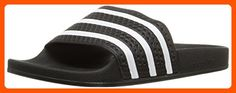 adidas Originals Men's Adilette Slide Sandal,Black/White/Black,13 M US - All about women (*Amazon Partner-Link)