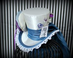 RESERVED for MICHELLE, Mini Top Hat, Mad Hatter Hat, Fascinator, Mini Hat, Top Hat, Mini Hats, Tea Party Hat, Wedding Hat, Women Top Hat by LittleMissHattitude on Etsy