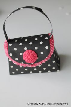 Cutest Petite Purse. Love the pink & black. Stampin' Up!