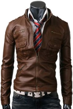 ZIP POCKET SLIM FIT LIGHT BROWN TAN MEN's LEATHER JACKET-ROXBORO Was £124.99–£139.99 Now on SALE for only £109.99–£124.99 By UK Leather Factory