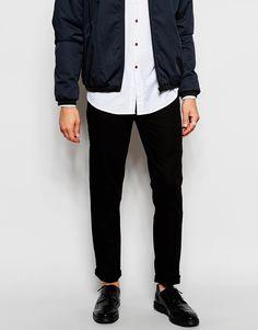 ASOS Slim Trousers In Herringbone Fabric