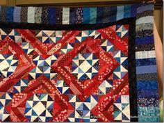 Bonnie Hunter's Jamestown Landing pattern in Red/Blue instead of NeutralBlue.  Stunning!