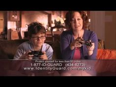Latest #ChildIDTheft commercial for Identity Guard.  Could your child be a victim of identity theft? Go to www.identityguard.com/mykid to learn more.  Service provided by IdentityGuard.com
