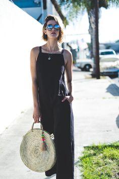 Summer Style lacausa-jumpsuit jumpsuit basket-bag quay-australia-sunglasses overalls