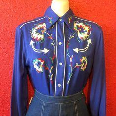 1940s H Bar C Gabardine Western Shirt by THEGIRLCANTHELPITUSA, $169.00