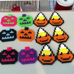 My trick-or-treaters perler beads by Sonic And Shadow