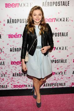 Chloe Grace Moretz Leather Jacket