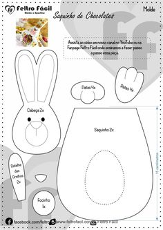1 million+ Stunning Free Images to Use Anywhere Easter Templates, Easter Printables, Bunny Crafts, Easter Crafts, Diy And Crafts, Crafts For Kids, Felt Crafts Patterns, Easter Art, Easter Activities