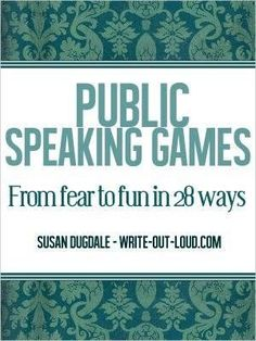 Public speaking games