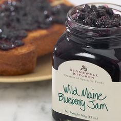 A Classic and always a Favorite. Our Marketing Intern grew up with our Wild Maine Blueberry Jam in the fridge!