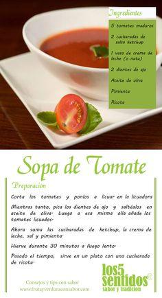 #ViernesConSabor #Sopa de Tomate