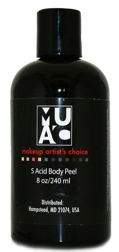 5 Acid Body Peel Formulated with the following: --20% Lactic Acid --5% Glycolic Acid --5% Mandelic Acid --2% Citric Acid --1% Salicylic Acid Weve included Licorace Root Extract to help even-out skin tones. $52.50